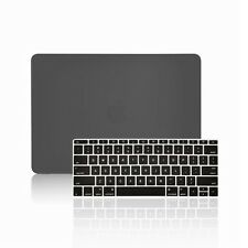 "2 IN 1 BLACK Matte Case for Macbook 12"" Retina Model A1534 with Keyboard Cover"