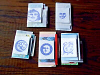 LOT OF 5 STAGGERED JUNK JOURNALS MOONS AND STARS