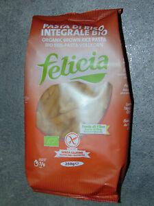 12 x 250g (11,63EUR/kg) Felicia Reis Vollkorn Pasta Penne Bio Glutenfrei