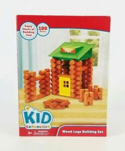 Kid Connection Wood Logs Builiding Set 100 Pieces Ages 3+, NEW
