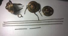 Vintage Antique Gas Kerosene Pull Down Lamp Parts Chain Crown Canopy