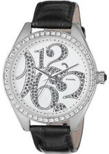 Fossil ES1947 50 mt reloj watch fashion stainless steel mujer crystal leather
