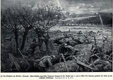1915 Kämpfe um Gorlice-Tarnow: k.u.k. Sappeure vs. russ. Stellung* antique print