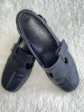 Ladies Hotter Sunrise Navy Leather Shoes Size 4