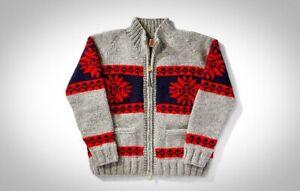 Filson Alpental Cowichan Handmade Sweater Mid Gray Snow, Men's L NWOT MSRP $595