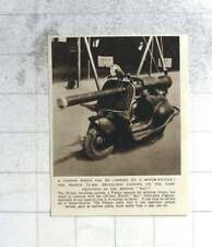 1955 75 Mm Cannon Can Be Carried On Motor Scooter