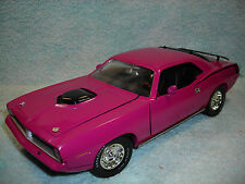 1/18 1970 PLYMOUTH HEMI CUDA IN MOULIN ROUGE  BY ERTL AMERICAN MUSCLE NO BOX.