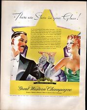 1935 MARTELL's COGNAC & GREAT WESTERN CHAMPAGNE ADS