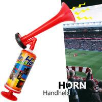 PUMP ACTION MUSIC AIR HORN RED TRUMPET FOG HORN HAND HELD FOOTBALL FESTIVAL LOUD