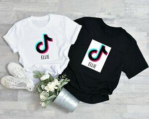 CHILDRENS Tik Tok T-shirt Any Name personalised