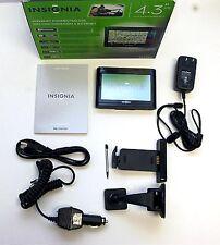"Insignia NS-CNV20 Car Portable GPS Navigator Boxed Set 4.3"" LCD text-to-speech B"