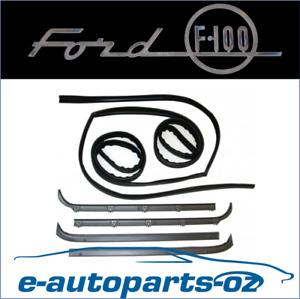 Ford F100 F250 F350 Bronco Door Window Bailey Channel Weather Strip Set 81-86