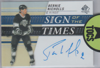 Bernie Nicholls 2019-20 SP Authentic Sign Of The Times Hard Signed Auto LA Kings