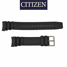 Original Citizen 22mm Black Rubber Watch Band Strap Eco-Drive BN0100-00E