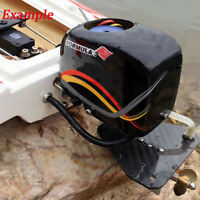 Rc Boat Tail Power Head Outboard Brushless Motor Propeller Steering Function QH