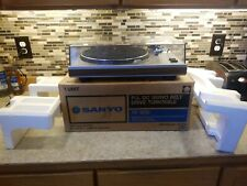 Sanyo TP-1010 Record Player Turntable PLL DC Servo Drive & Original Box NICE!!