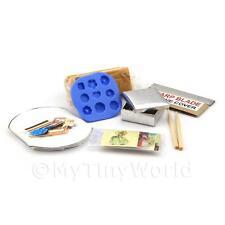 Maison de poupées miniature 9 piece biscuit fabrication kit avec Moule Silicone