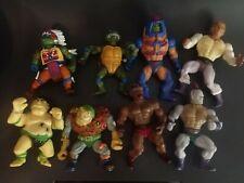 Vintage 1980s-90s Toy Action Figures Lot Of 8 He-man MOTU, TMNT, & MORE