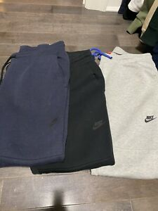 Nike Tech Fleece Pants Sz L Lot Of 3 Navy/Grey/Black
