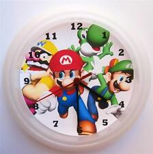 BRAND NEW  WALL CLOCK MARIO BROS YOSHI  FREE P&P