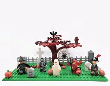 Happy Halloween Graveyard Custom Set With Trick Or Treaters