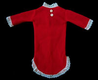 Vintage Barbie Doll Clothes Red Felt Flannel Nightgown