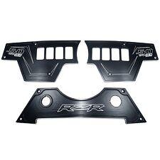8 Switch 3 Piece Dash Panel Aluminum Black Powdercoated fits Polaris RZR XP1000