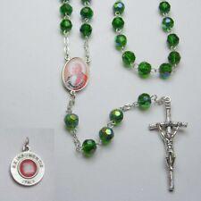 NEW - POPE JOHN XXIII - Crystal Rosary - Green