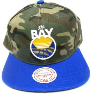 Mitchell & Ness Golden State Warriors The Bay Camo Camouflage Snapback Hat Cap