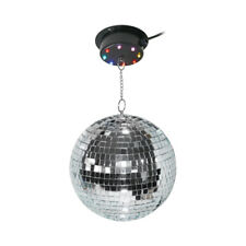 Spiegelkugel Discokugel SET 20cm Kugel mit Motor LED Licht DJ Party #4792