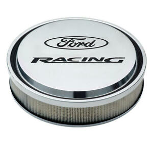 Proform Air Cleaner Assembly 302-383; Ford Racing Polished Aluminum 13 x 3""