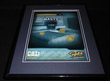 CSI 2004 Spike TV 11x14 Framed ORIGINAL Advertisement William Petersen