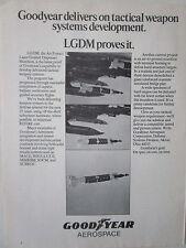 5/1973 PUB GOODYEAR AEROSPACE LGDM AIR FORCE LASER GUIDED DISPENSER MUNITION AD