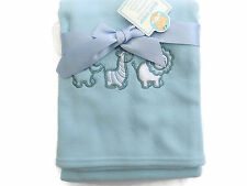 Baby Wrap/Blanket  with Emb Animals 75 x 100 cm  Color Blue 877