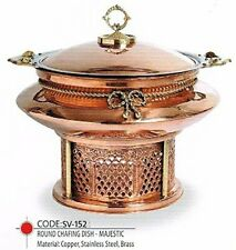 Goldman 6 Liter  Copper Chaffing Dish Restaurant Food Warmer Serving Utensils