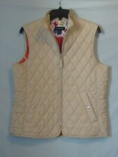 Lands End Quilted Equestrian Riding Vest Small (6-8) Full Zip Excellent+