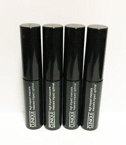 4 x Clinique High Impact Mascara 01 Black 3.5ml each (Total 14 ml) New!
