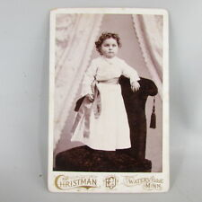 Cabinet Card Photo Photograph girl standing on chair Waterview MN Minnesota Minn