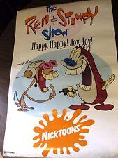 Vintage THE REN & STIMPY SHOW HAPPY HAPPY JOY JOY 21 X 32 ORIGINAL POSTER 1992