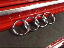 Audi OEM Rear Trunk Chrome Badge Rings Emblem TT A3 A4 S4 B6 B7 A3 RS4 2002-