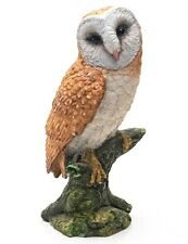 More details for exquisitely detailed  impressive porcelain figurine of a perched barn owl
