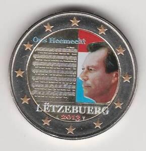 --- 2013AA - 2 EURO C0ULEUR --- LUXEMBOURG / HYMNE NATIONAL
