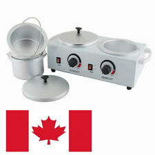 CA Double Wax Warmer Electric Heater Dual Hard Hot Skin Removable Inner Wax Pot