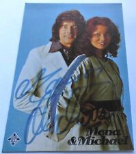 Mona & Michael - Gesangsduo - Schlager - Karte mit Original Autogramm - Super !