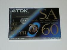 TDK SA60 Type II High Position Sealed Blank Audio Cassette Super Avilyn Cassette