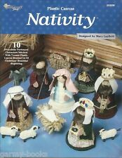 Nativity Figures Plastic Canvas 10 Patterns Mary Layfield Needlecraft Shop NEW