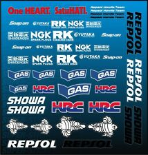 NEW 2016 Mini SIZE REPSOL Decals Stickers HONDA CBR CB 125 250 300 500 600 R RR