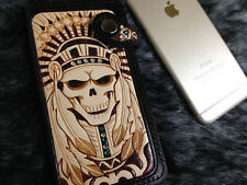 Indian Skull iphone 6 wallet case genuine leather handmade H06