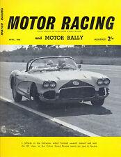Motor Racing - BRSCC journal - magazine - April 1960