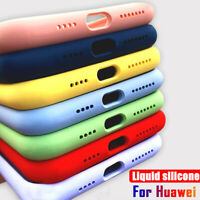 For Huawei P30 Lite P40 P20 Pro Honor 20 8X Liquid Silicone Soft Case Cover